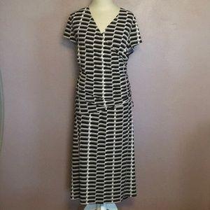 Jones Studio Cap Sleeve Ruched Waist Dress 20W